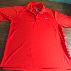 Mexico Red Lacoste SPORT Tennis Polo (Large)